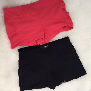 2 pairs of forever 21 workout shorts